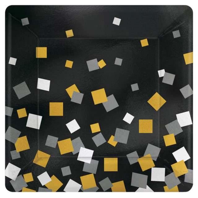"""Talerzyki papierowe """"Konfetti"""", 18 cm, 8 szt"""