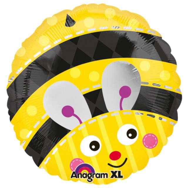 "Balon foliowy ""Pszczółka"", AMSCAN, 18"" RND"