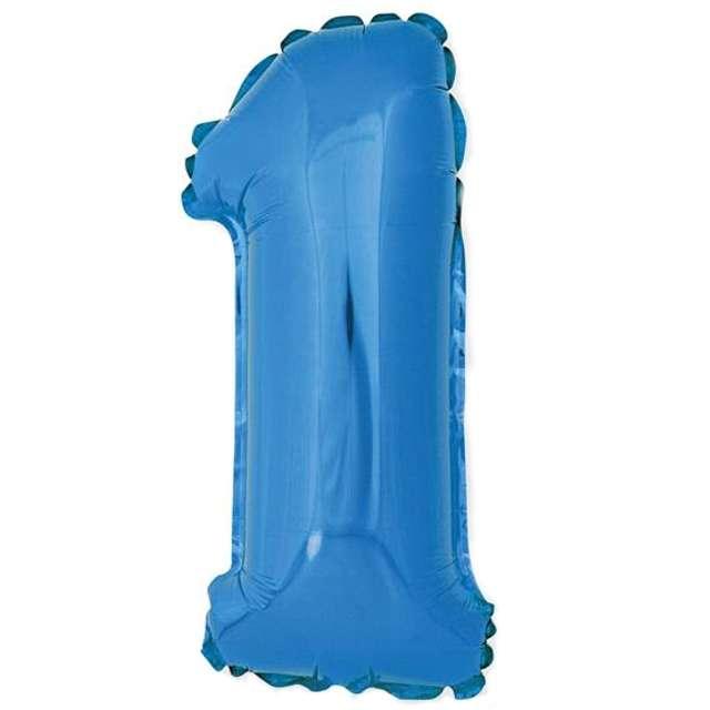 """Balon foliowy cyfra 1, 14"""", GoDan, niebieski"""