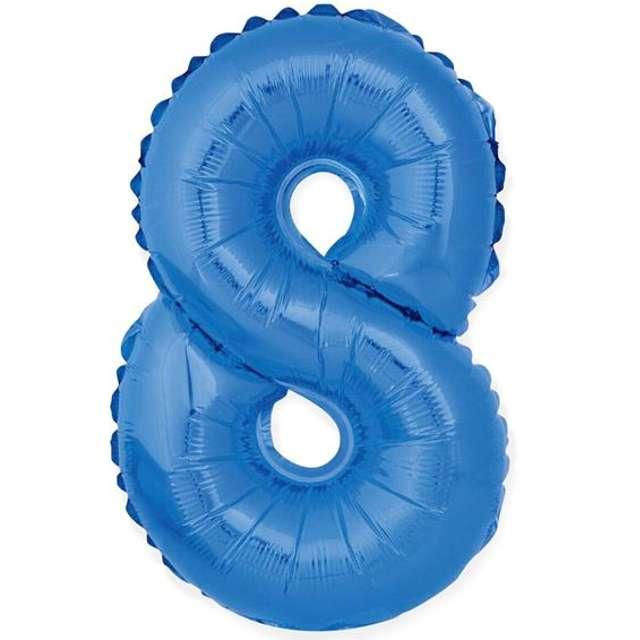 """Balon foliowy cyfra 8, 14"""", GoDan, niebieski"""