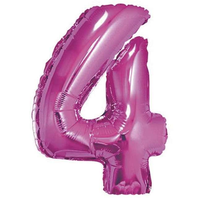 """Balon foliowy cyfra 4, 14"""", GoDan, różowy"""