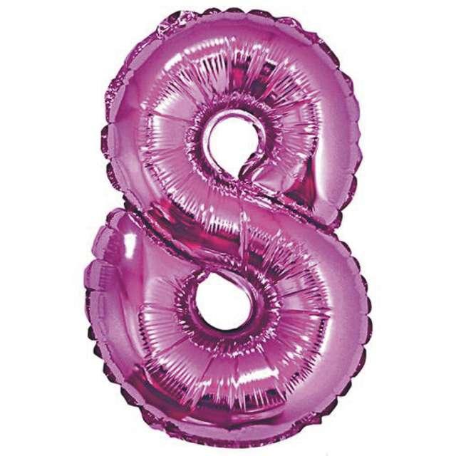 """Balon foliowy cyfra 8, 14"""", GoDan, różowy"""