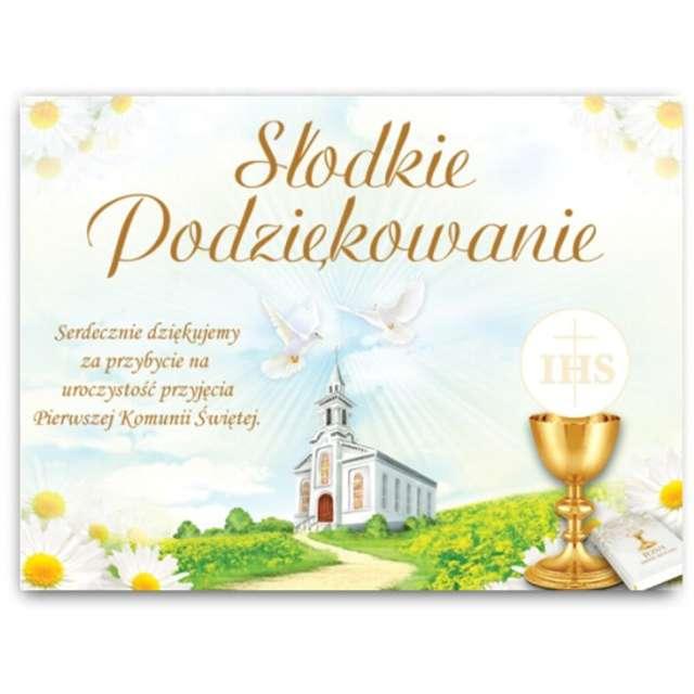 """Naklejki na ciasto """"Słodkie Podziękowanie Komunijne"""", 25 szt"""