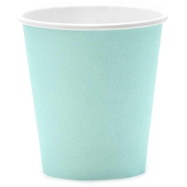 """Kubeczki papierowe """"Classic"""", turkusowe, 200 ml, 6 szt"""