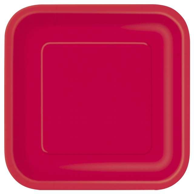 """Talerzyki papierowe """"Kwadrat Classic S"""", czerwone, 18 cm, 16 szt"""