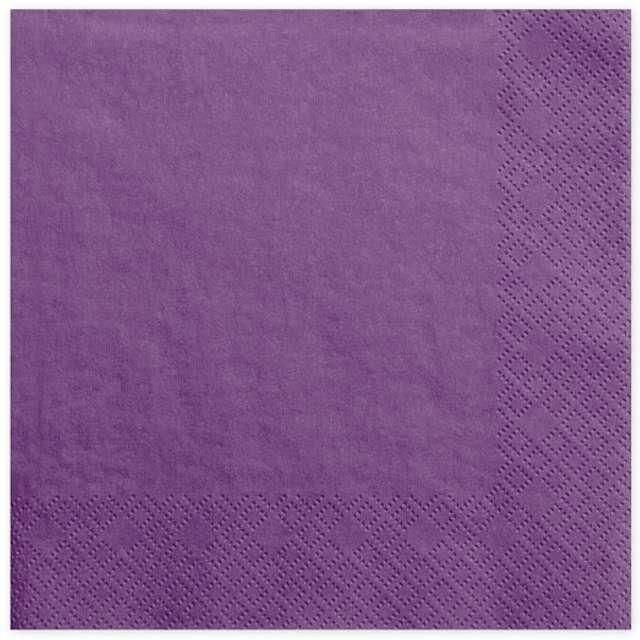 """Serwetki """"Lunch Classic"""", purpurowe jasne, 33 cm, 20 szt"""