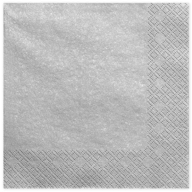 "Serwetki ""Lunch Classic"", srebrne, 33 cm, 20 szt"