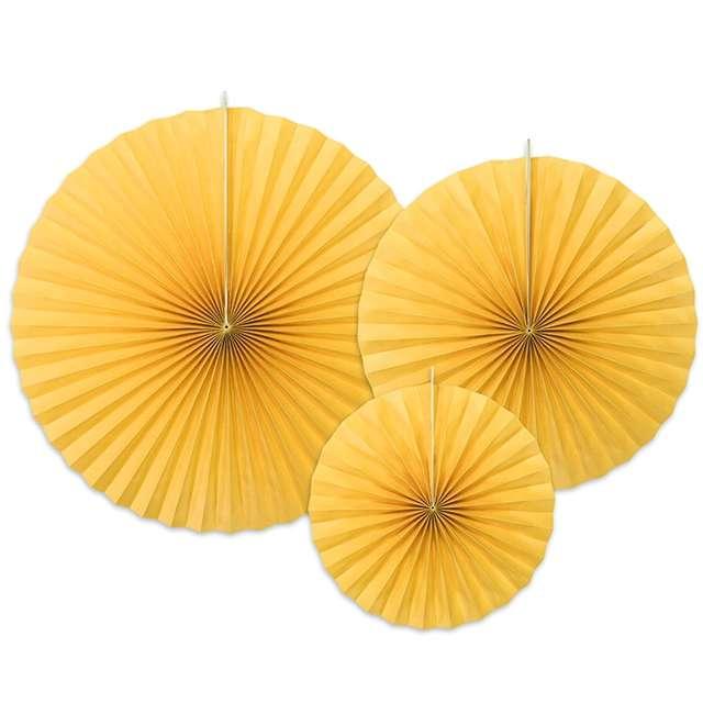 """Rozeta wisząca """"Classic"""", żółty, 3 szt"""