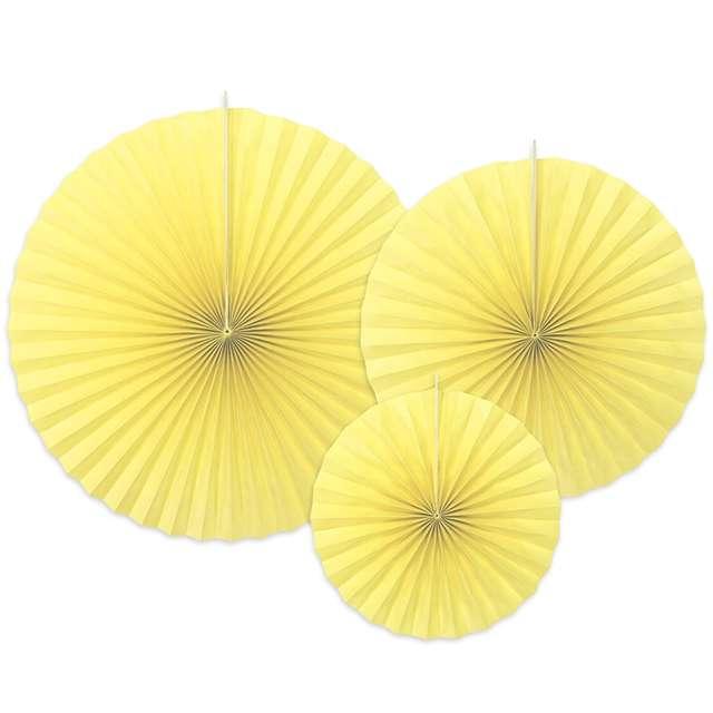 """Rozeta wisząca """"Classic"""", żółty jasny, 3 szt"""