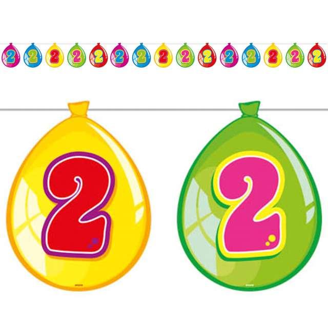 "Baner ""2 urodziny baloniki"", 10 m"