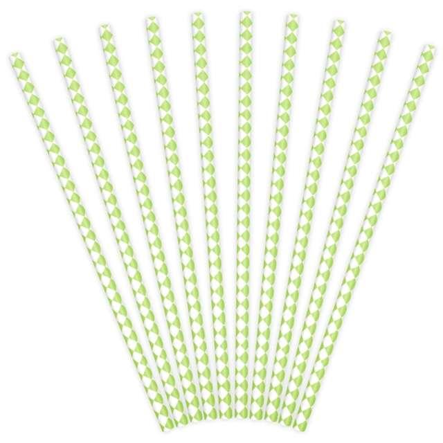 """Słomki papierowe """"Karo"""", zielone jabłuszko, 10 szt"""