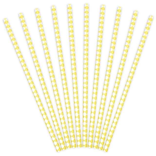 """Słomki papierowe """"Karo"""", żółte, 10 szt"""