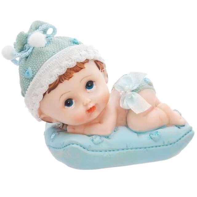 Figurka Chłopiec z niebieską poduszką, 9cm, 1szt.