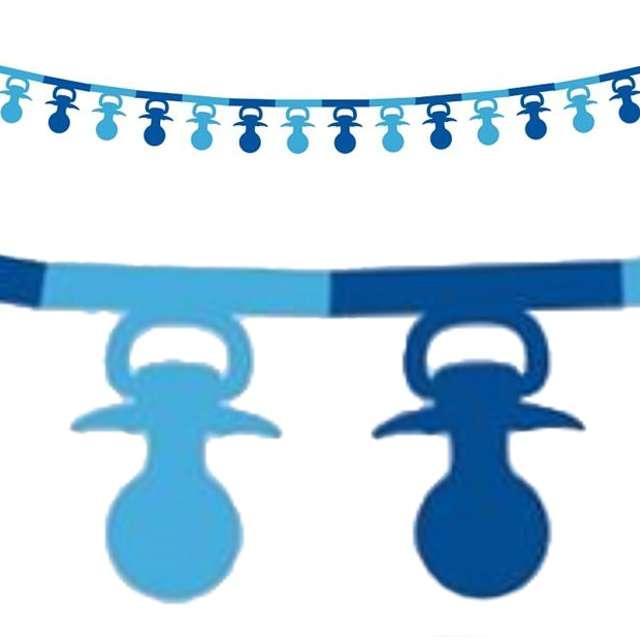 """Girlanda papierowa """"Smoczki"""", niebieska, 360 cm"""