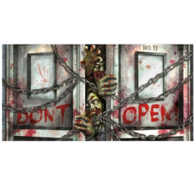 """Dekoracja foliowa """"Zombies Dont Open"""", 160x85 cm"""