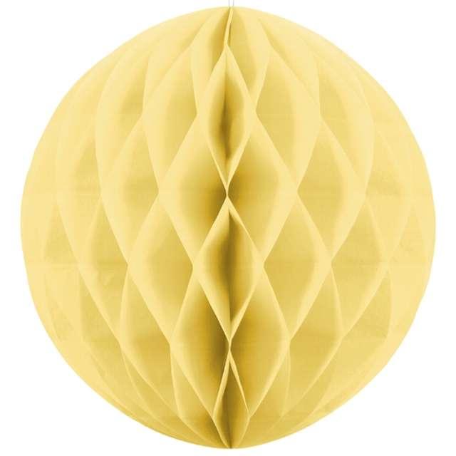 """Dekoracja """"Honeycomb Kula"""", żółta słomkowa, 40 cm"""