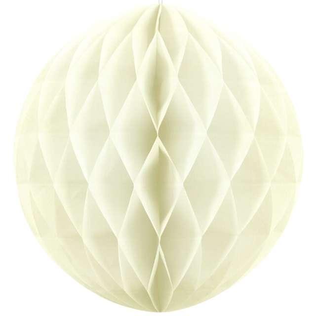 "Dekoracja ""Honeycomb Kula"", kremowa jasna, 40 cm"