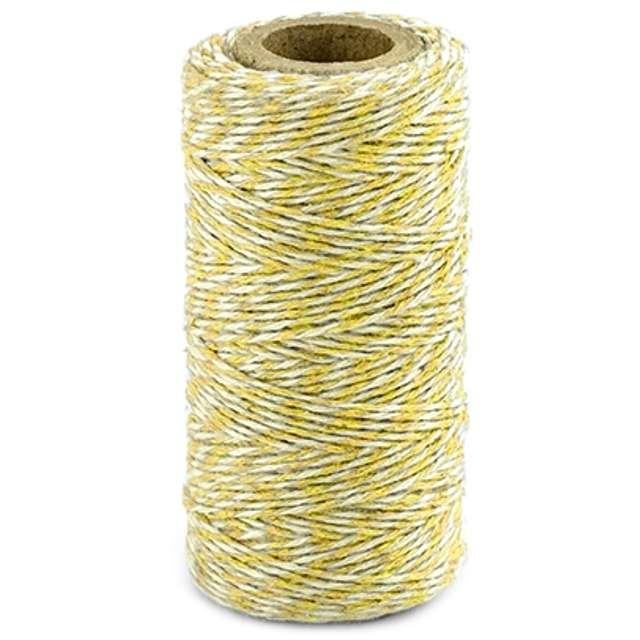"""Sznurek """"Bakers Twine"""", żółty, 50 m"""