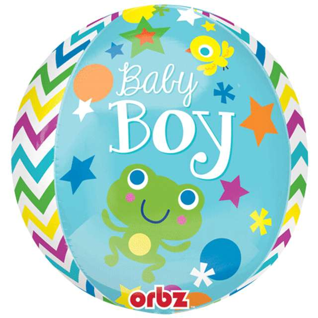Balon foliowy Baby Boy AMSCAN 16 ORB