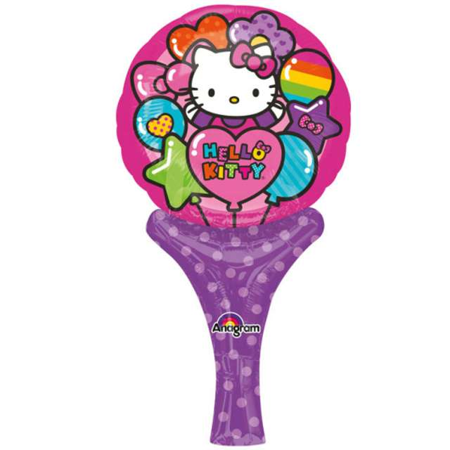"Balon foliowy ""Hello Kitty Rainbow"", AMSCAN, 14"" SHP"