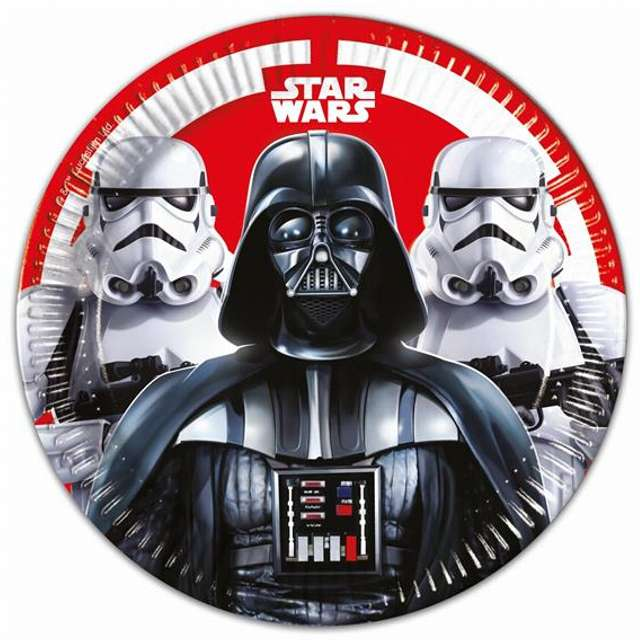 """Talerzyki papierowe """"Star Wars Final Battle"""" 23 cm, 8 szt"""