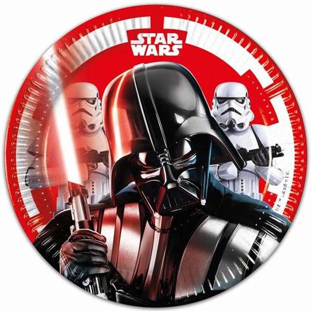 """Talerzyki papierowe """"Star Wars Final Battle"""" 20 cm, 8 szt"""