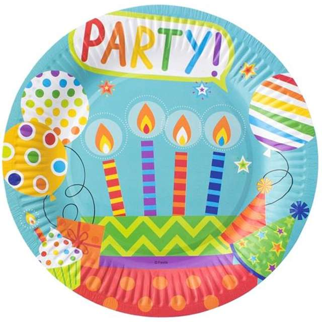 """Talerzyki papierowe """"Party"""", 23 cm, 6 szt"""