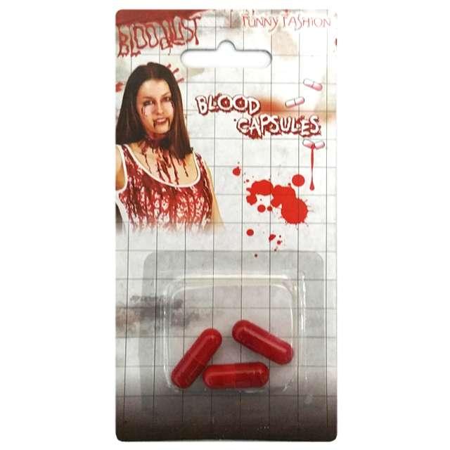 """Make-up party """"Krew w kapsułkach"""", czerwona, Funny Fashion, 3 szt"""