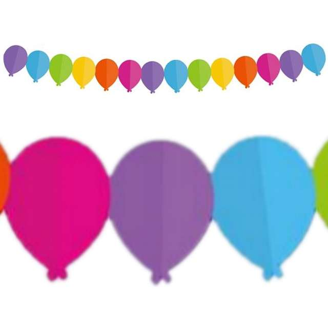 """Girlanda """"Kolorowe Baloniki"""", 360 cm, 1 szt"""