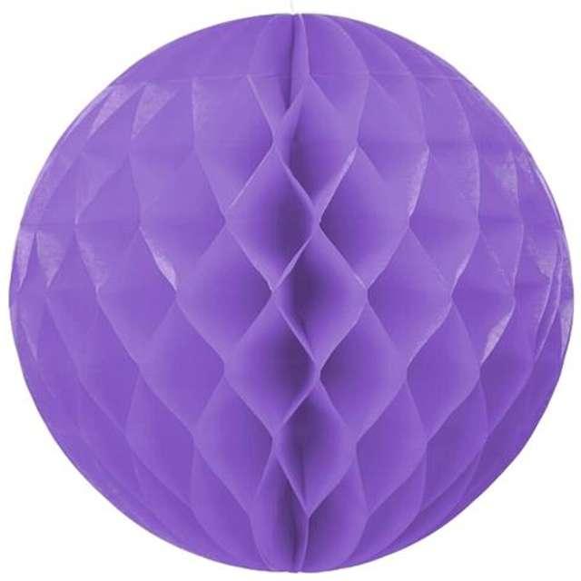 Kula bibułowa, fioletowa, 30 cm