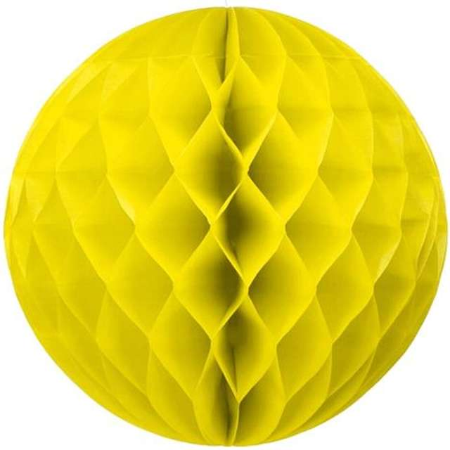 Kula bibułowa, żółta, 30 cm