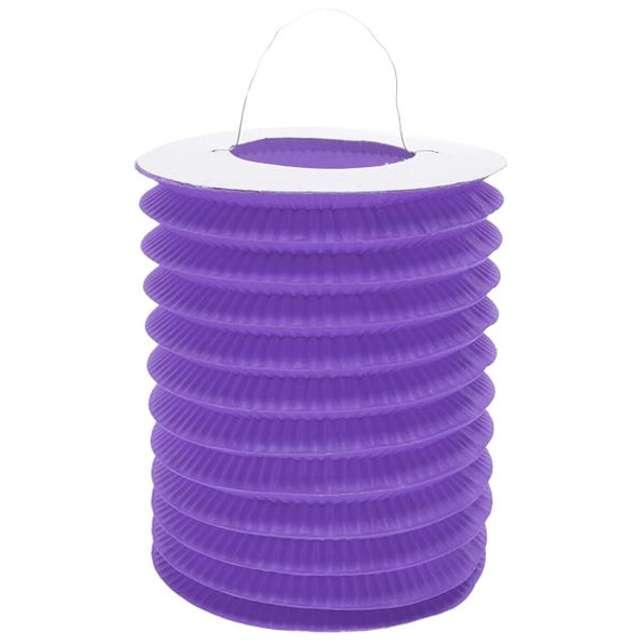 """Lampion papierowy """"Walec"""", 15 cm, fioletowy"""