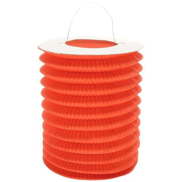 """Lampion papierowy """"Walec"""", 15 cm, pomarańczowy"""