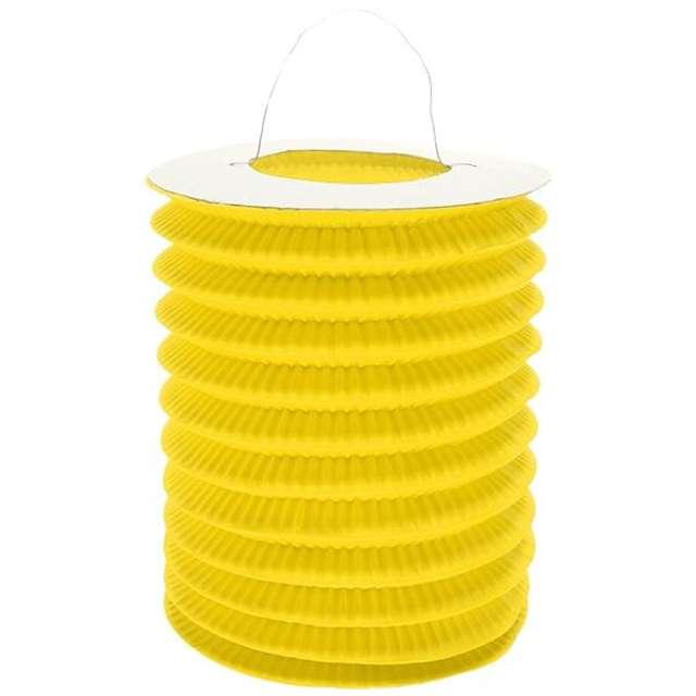 """Lampion papierowy """"Walec"""", 15 cm, żółty"""