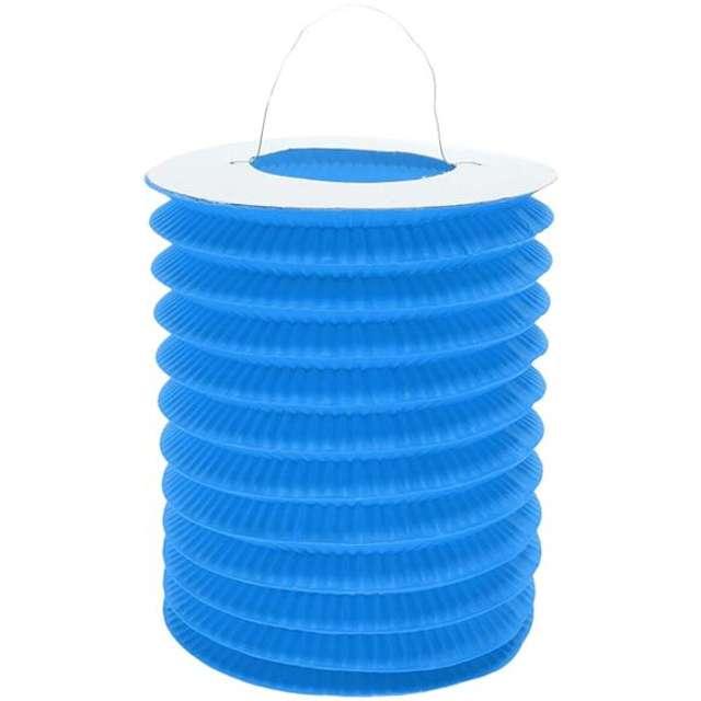 "Lampion papierowy ""Walec"", 15 cm, błękitny"