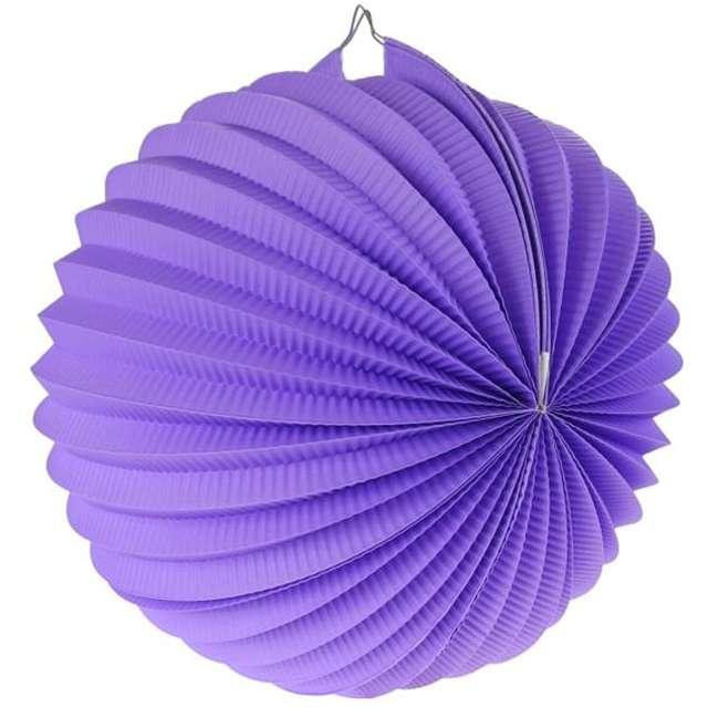 """Lampion papierowy """"Kula Deco"""", 25 cm, fioletowy"""