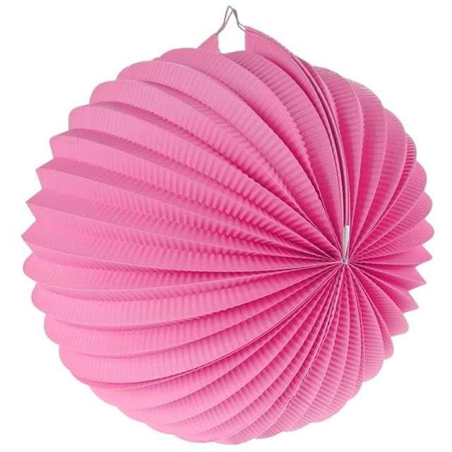 """Lampion papierowy """"Kula Deco"""", 25 cm, różowy"""