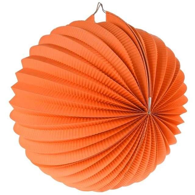 """Lampion papierowy """"Kula Deco"""", 25 cm, pomarańczowy"""