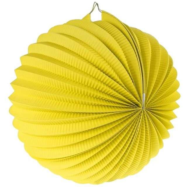 """Lampion papierowy """"Kula Deco"""", 25 cm, żółty"""