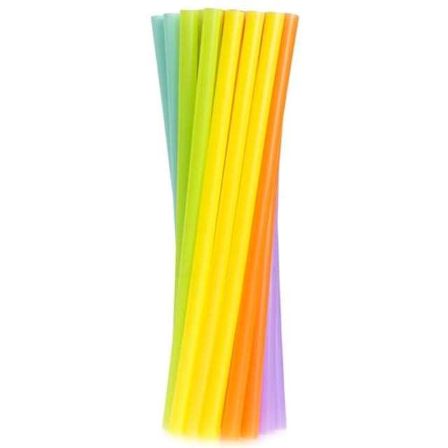 Słomki JUMBO pastelowe , mix kolorów / 250 szt.
