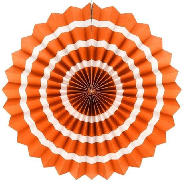 """Rozeta wisząca """"3 paski"""", pomarańczowa, 40 cm"""