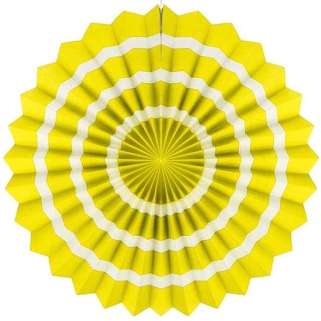 """Rozeta wisząca """"3 paski"""", żółta, 40 cm"""