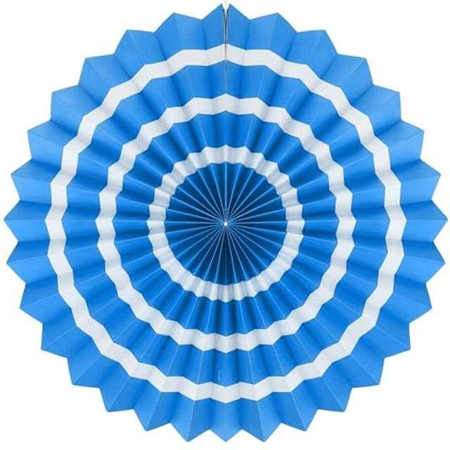 """Rozeta wisząca """"3 paski"""", błękitna, 40 cm"""