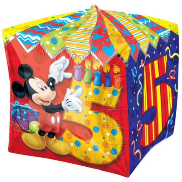 """Balon foliowy """"Mickey Mouse 5 urodziny"""", AMSCAN, 15"""" QBZ"""