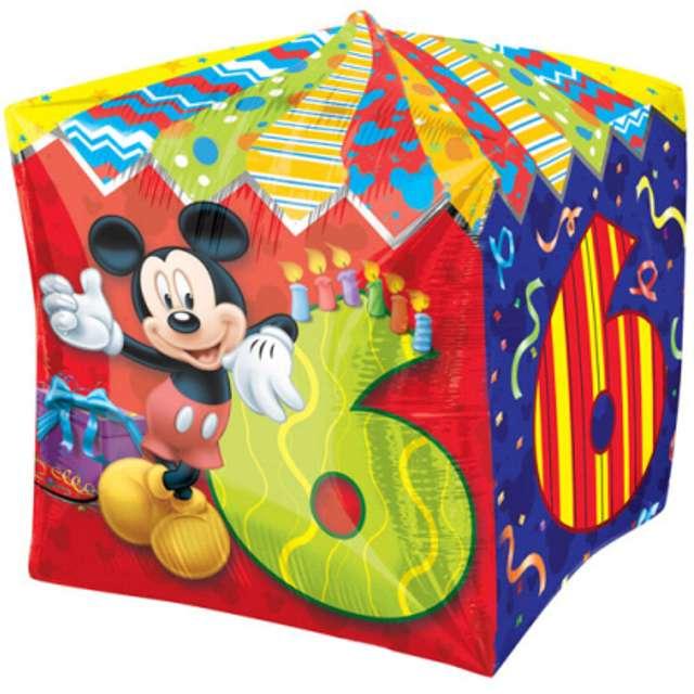 """Balon foliowy """"Mickey Mouse 6 urodziny"""", AMSCAN, 15"""" QBZ"""
