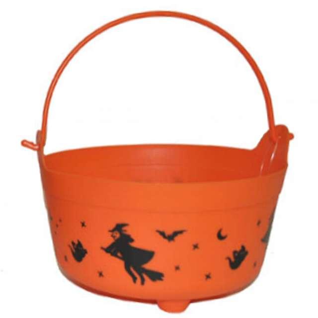 """Wiaderko na cukierki """"Halloween"""", pomarańczowe"""
