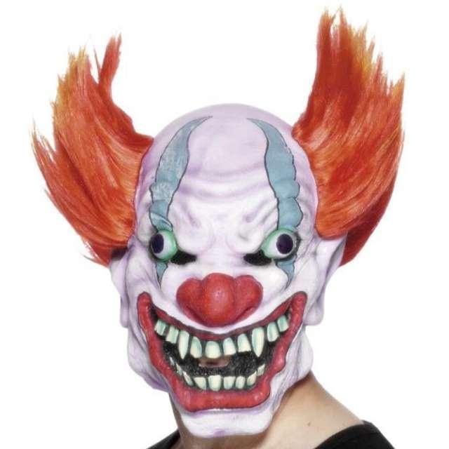 """Maska """"Klaun z pomarańczowymi włosami"""", lateksowa"""