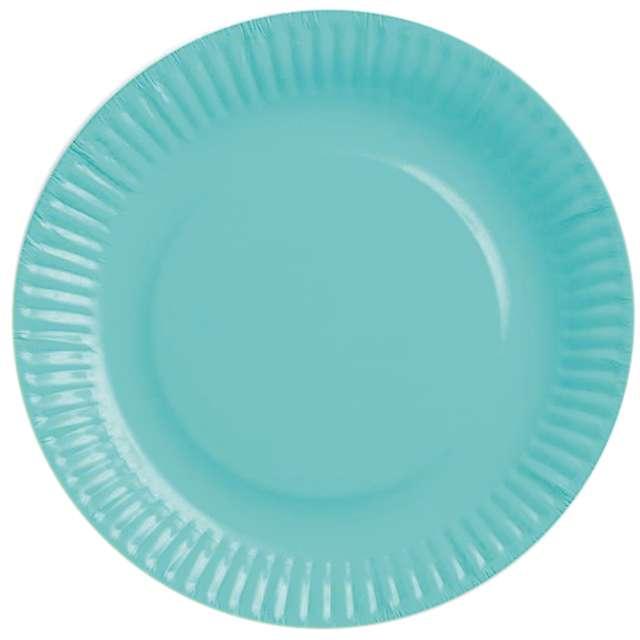 """Talerzyki papierowe """"gładkie"""", błękitne, 18 cm, 6 szt"""