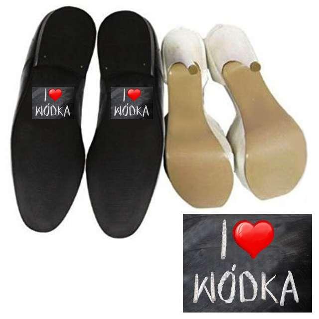 """Naklejki na buty """"I love WÓDKA"""", 2 szt"""