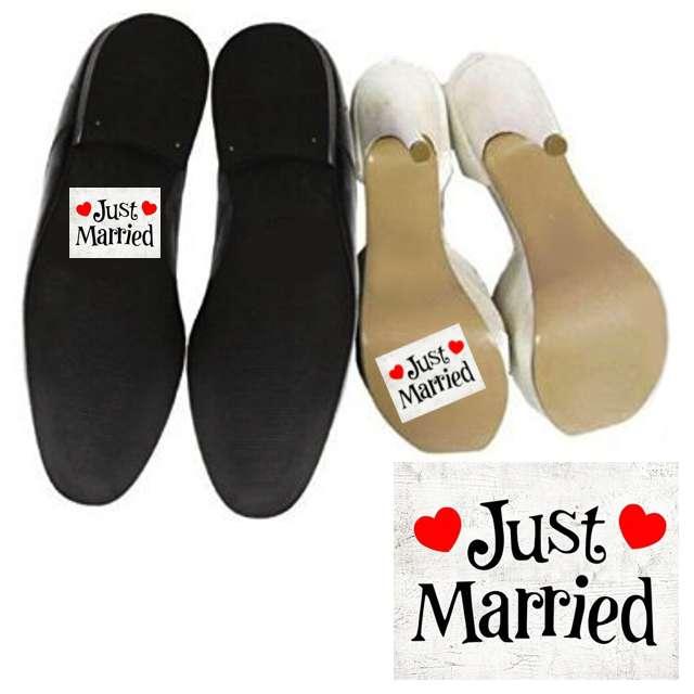 "Naklejki na buty ""Just Married"", 2 szt"